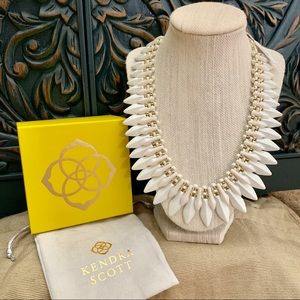 NWT Kendra Scott Lazarus gold and ivory necklace